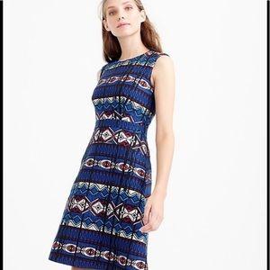 J Crew Textures Windowpane Jacquard Dress, Size 12